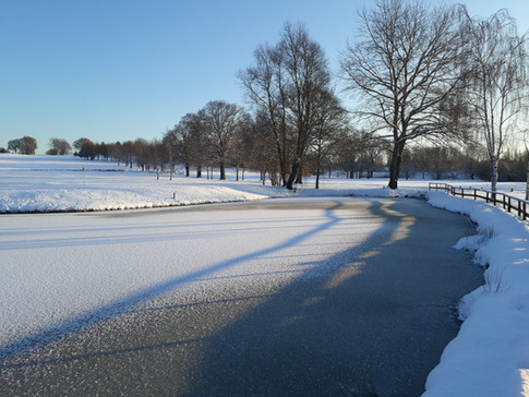 the lakes in winter