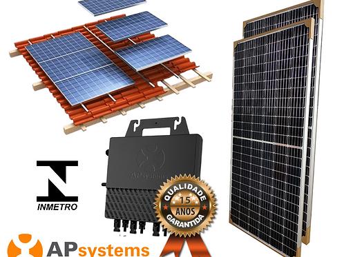 Kit Energia Solar Fotovoltaica 1 kwp (130 kw/h mês)