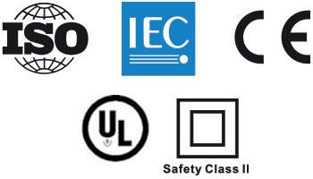 Selos de certificados de qualidade e testes de eficiência internacionais