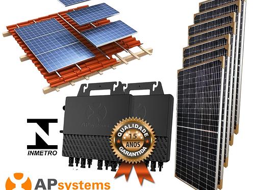 Kit Energia Solar Fotovoltaica 3,28 kwp (426 kw/h mês)
