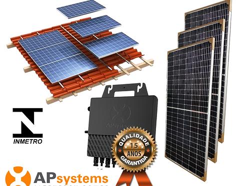 Kit Energia Solar Fotovoltaica 1,64 kwp (213 kw/h mês)
