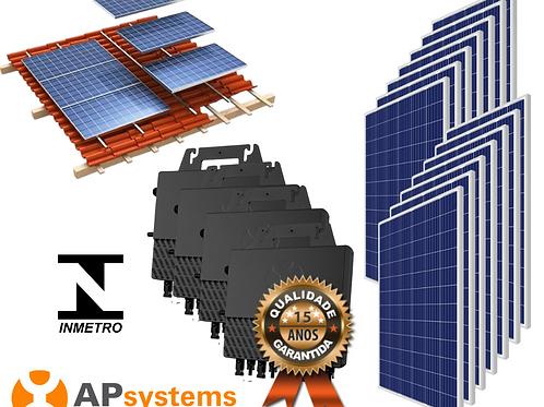 Kit Energia Solar Fotovoltaica 4,62 kwp (600,60 kw/h mês)