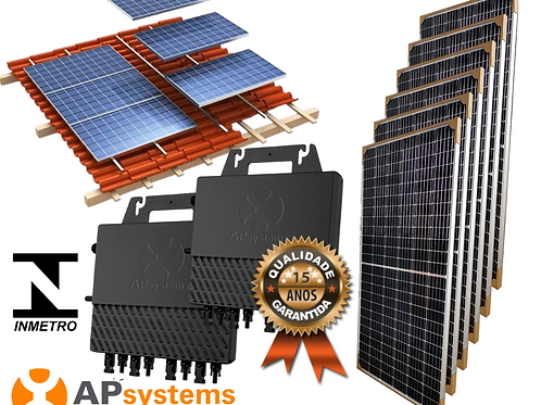 Kit Energia Solar Fotovoltaica 3,08 kwp (400 kw/h mês)