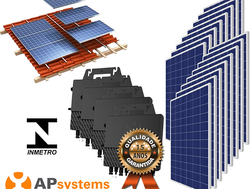 Kit Energia Solar Fotovoltaica 5,28 kwp (693 kw/h mês)