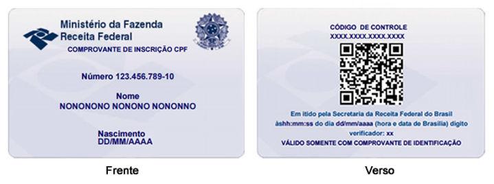 PEDIDO DE REGISTRO NO CPF