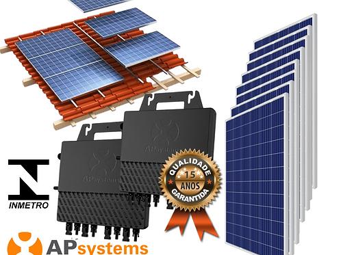 Kit Energia Solar Fotovoltaica 2,64 kwp (343 kw/h mês)