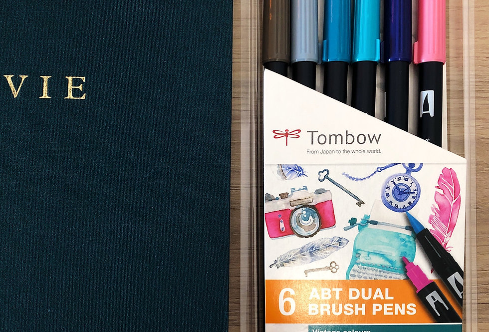 Tombow calligraphie vintage bullet journal bujo