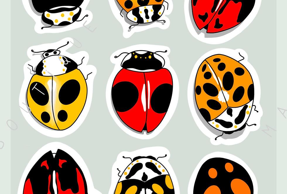 "Stickers ""Ladybug mania 2"" - Mai"