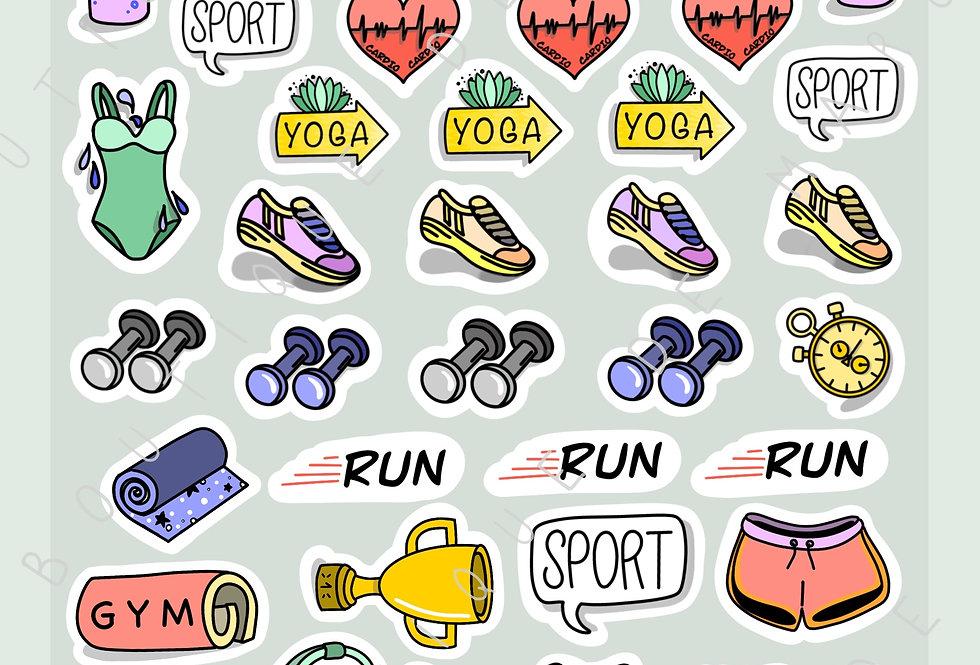 """Stickers """"Sport"""" - Les basiques"""