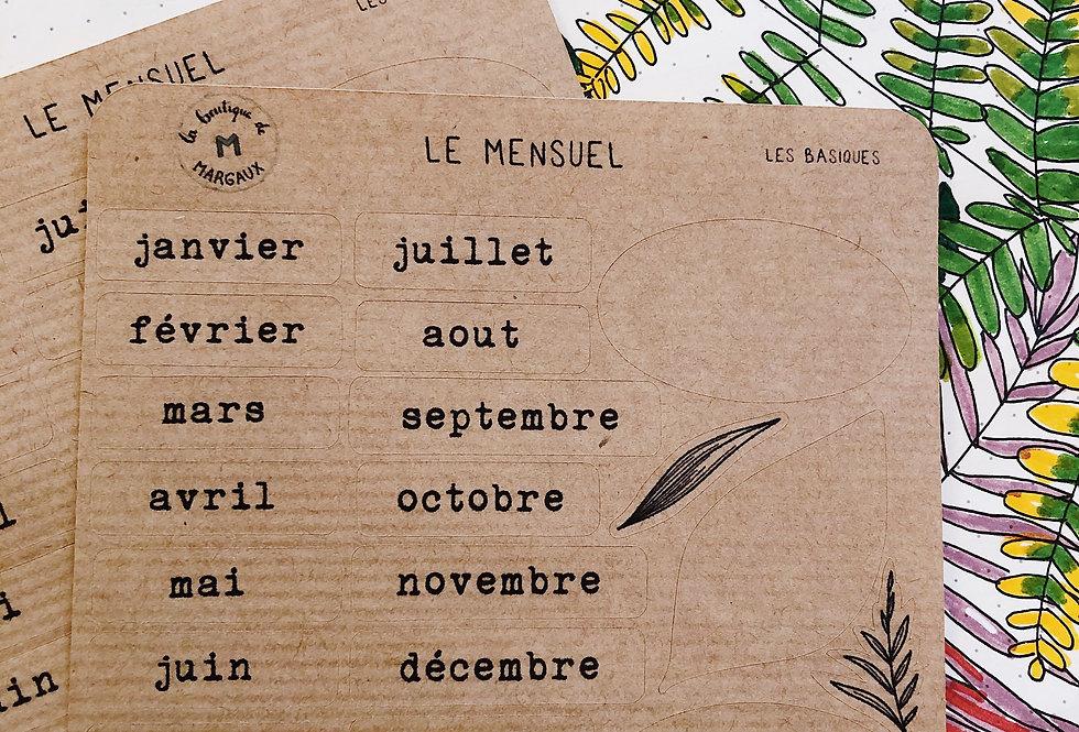 """Stickers """"Le mensuel"""" - KRAFT"""