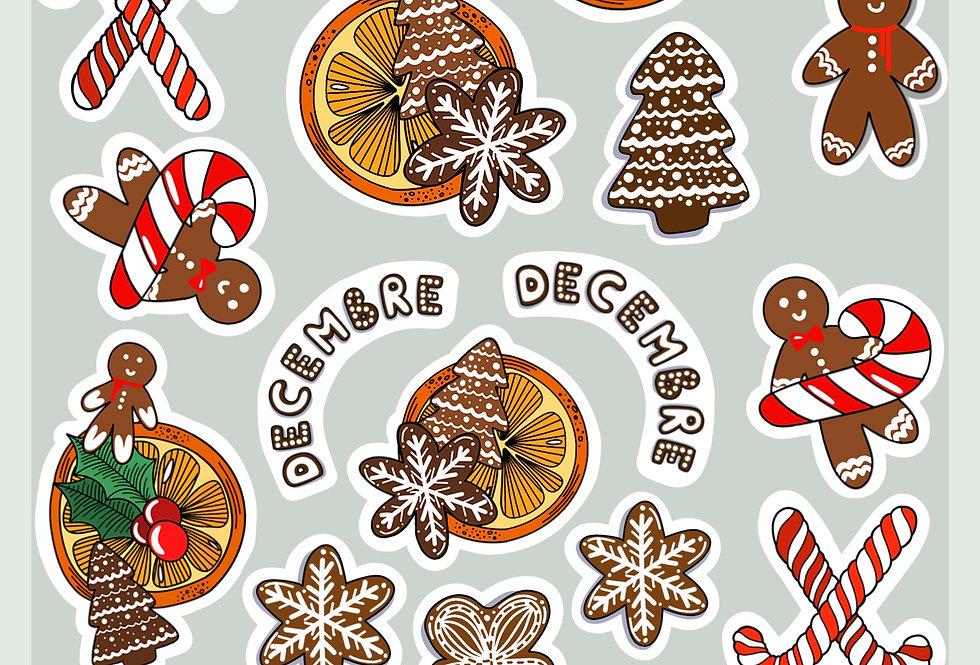 "Stickers ""Noël Sucré"""