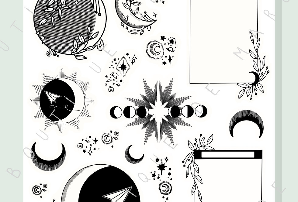 "Stickers ""Nouvelle Lune"""