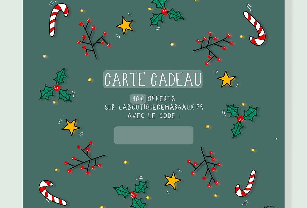 Carte cadeau : 10€