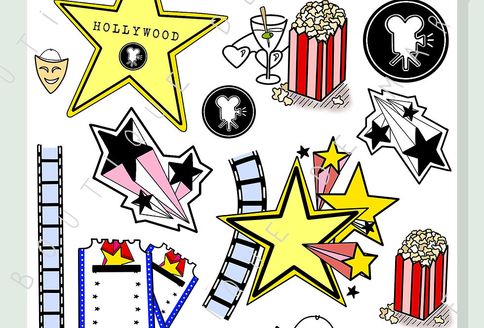 "Stickers ""Hollywood"""