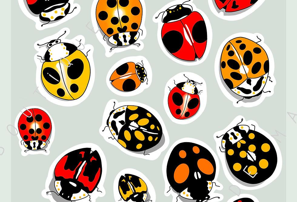 "Stickers ""Ladybug mania"" - Mai"