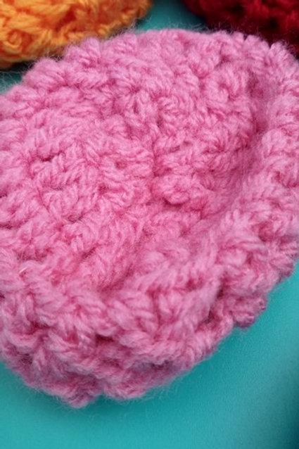 Eponge tawashi lavable coloris rose
