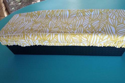 Protège cake lavable en coton enduit motif plante