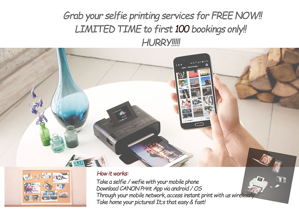 selfie printing services for free from hahaphotobooth