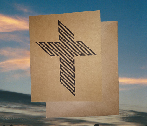 4 pack, Greeting card - The  '45 Degree Cross of Jesus', 5x7