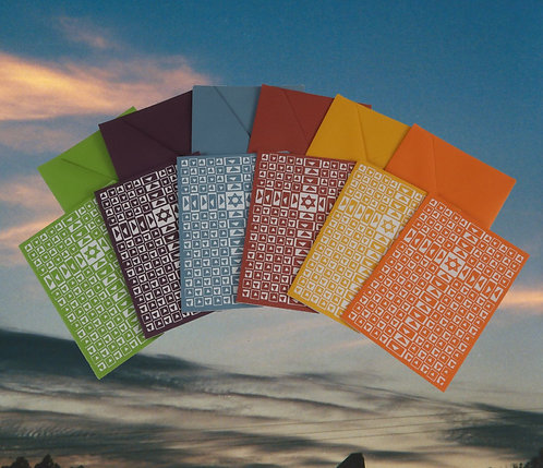 """Rainbow Two Become Twain 3 1/2"""" by 4 3/4"""" Greeting Card 6 Pack"""
