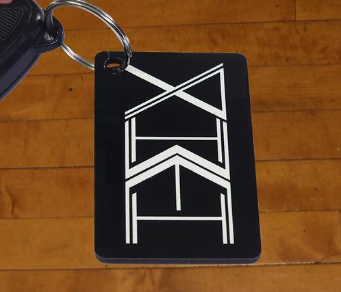 YAHWEH Totem Decorated MDF Hardboard Keychain, 1.5x2.5 inches