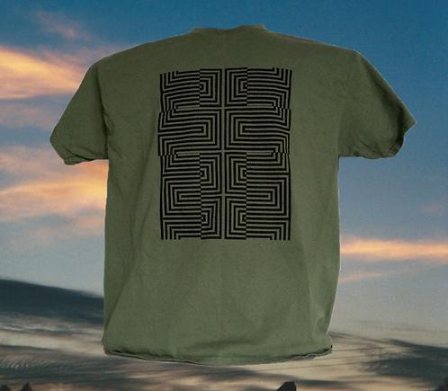 Wavy Cross Decorated T-Shirt