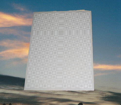 "Clear window decal of Leopard Cross print 6"" x 5"""