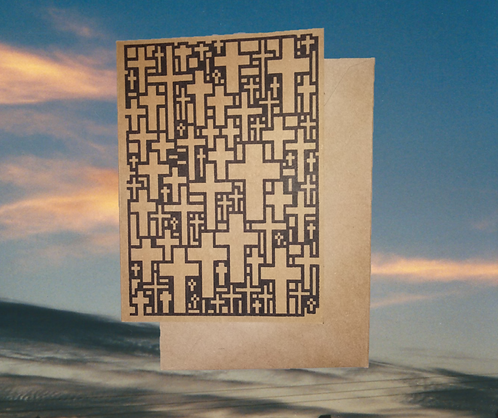 4 pack, Greeting card - The 'Multi-Cross Cross of Jesus', 5x7
