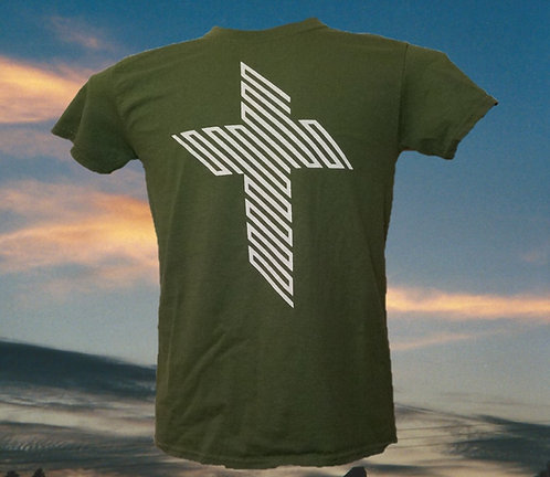 T-Shirt with 45 Degree Cross Graphic