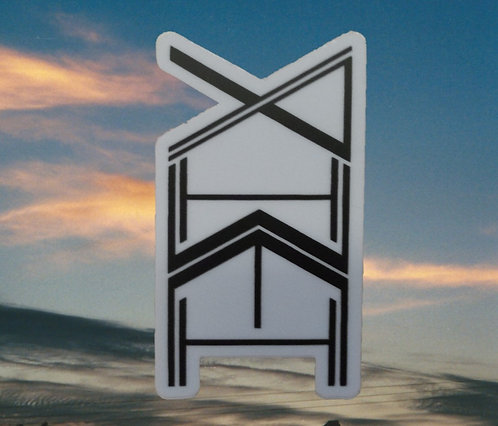 """Yahweh totem graphic cell phone sticker 3"""" x 2"""""""
