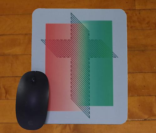 "Stylized 45 Degree Cross of Jesus Mousepad, 8""x9.5"""