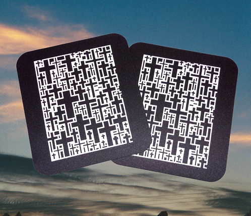 "Multi Cross decorated mousepad, 8""x8.5"""