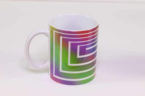11 oz. Coffee Mug with Boxed out Cross Decoration