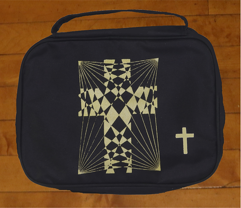 CrissCross Cross of Jesus decorated Bible Cover.