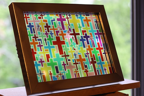 Multi-Cross Stained Glass. 6x8