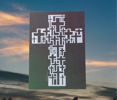 Multi Cross Cross of Jesus in Full Color Magnet, 4x6