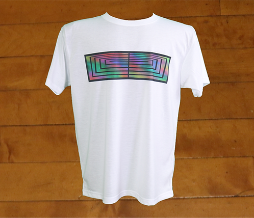 Rainbow Boxed Out Cross Decorated Dry Tech T-Shirt
