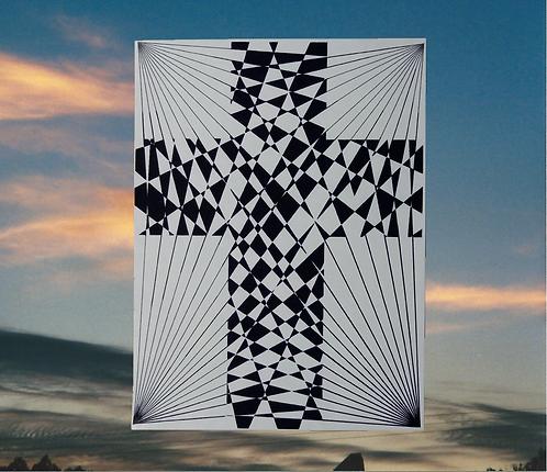 Criss-Cross Cross of Jesus 4x6 Magnet