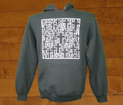 MultiSquare Cross decorated Hoodies