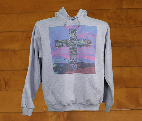 Electric Cross Decorated Hoodie