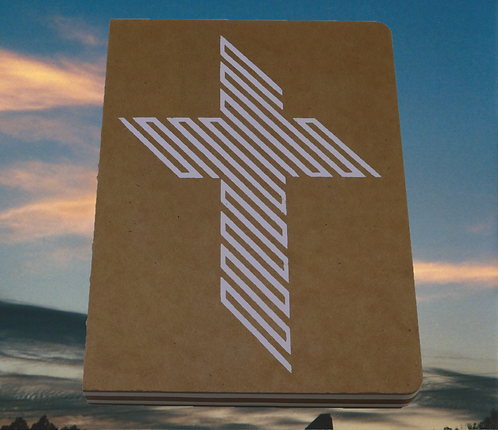 45 Degree Cross decorated Inspirational 128 page Journal/Sketchbook's 6x8 inches