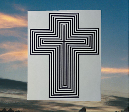 Maze cross of Jesus Magnet, 6x4