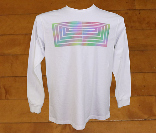 Rainbow Boxed Out Cross Decorated Long Sleeved T-Shirt