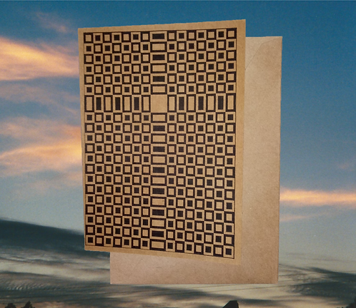 4 pack, Greeting card - 'Leopard Cross of Jesus', 5x7