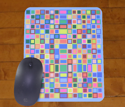 Leopard Cross Mousepad in Full Color - 8x9.5 inches