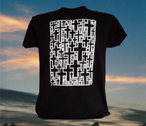 T-Shirt with Multi-Cross Graphic