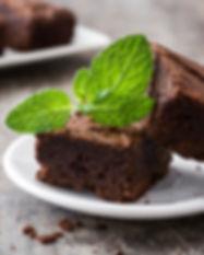 Brownies de menta. Libre de Azúcar. Apto para diabeticos. Endulzado con Stevia.