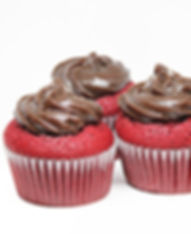 CupCake Red Velvet con Brigadeiro de chocolate. Libre de Azúcar. Apto para diabeticos. Endulzado con Stevia.