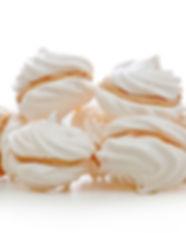 Sanguche de suspiros con caramelo. Libre de Azúcar. Apto para diabeticos. Endulzado con Stevia.