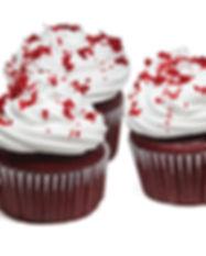 CupCake Red Velvet con Lustre y Migas encima. Libre de Azúcar. Apto para diabeticos. Endulzado con Stevia.